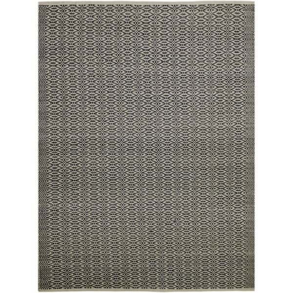 Bertrand Hand-Woven Charcoal Area Rug by Bungalow Rose