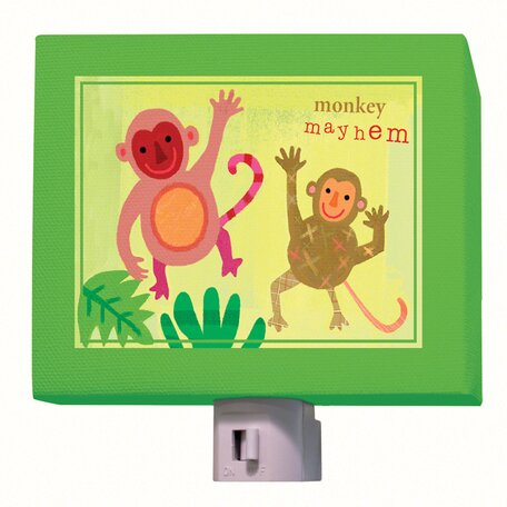 Monkey Mayhem Night Light by Oopsy Daisy