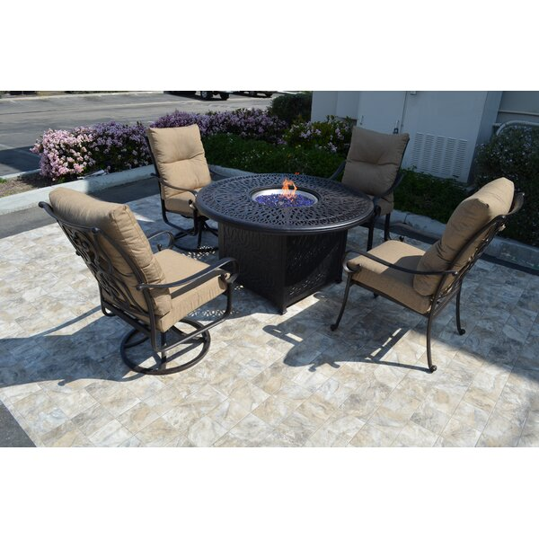 Florence 5 Piece Conversation Set with Cushions by K&B Patio