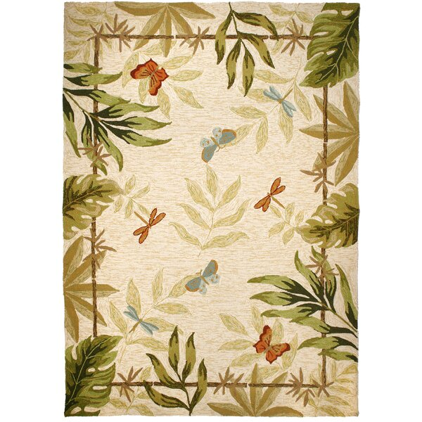 Harrow Butterflies and Dragonflies Indoor/Outdoor Area Rug by Bay Isle Home