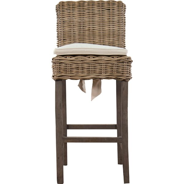 Roshan Indoor/Outdoor Rattan Patio Bar Stool by Ophelia & Co.