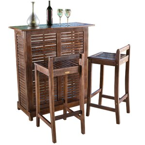 3 Piece Monique Patio Bar Set