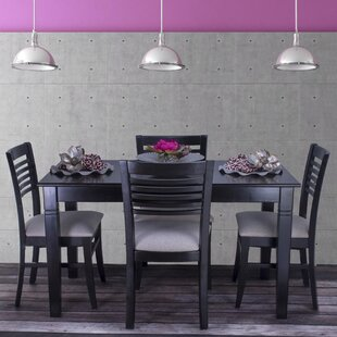 Goris 5 Piece Solid Wood Dining Set By Red Barrel Studio