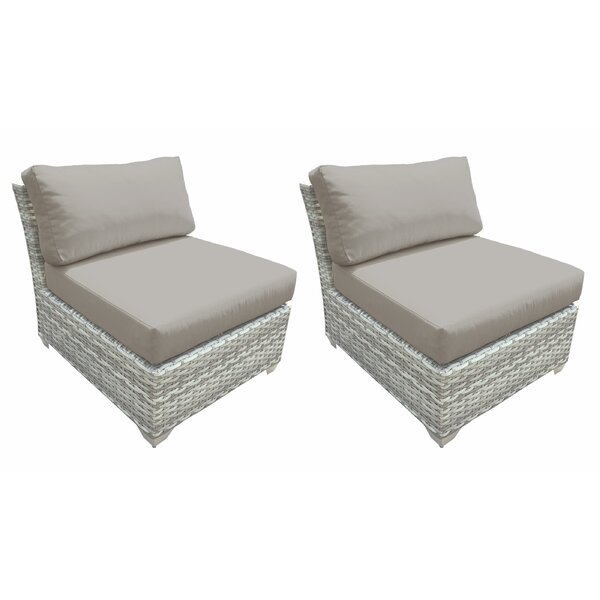 Genevieve Patio Chair with Cushions (Set of 2) by Rosecliff Heights