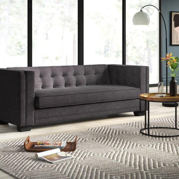 Vidette Square Chesterfield Sofa by Mercury Row
