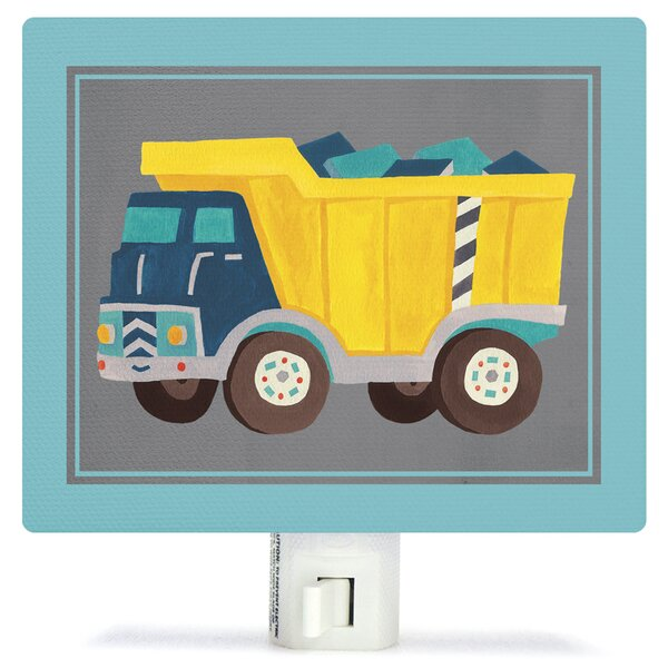 Transportation Dump Truck by Irene Chan Canvas Night Light by Oopsy Daisy