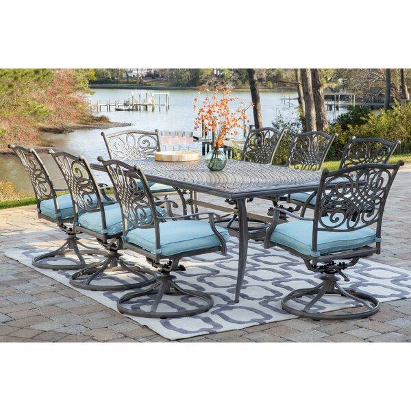 Yosemite 9 Piece Dining Set with Cushion by Charlton Home