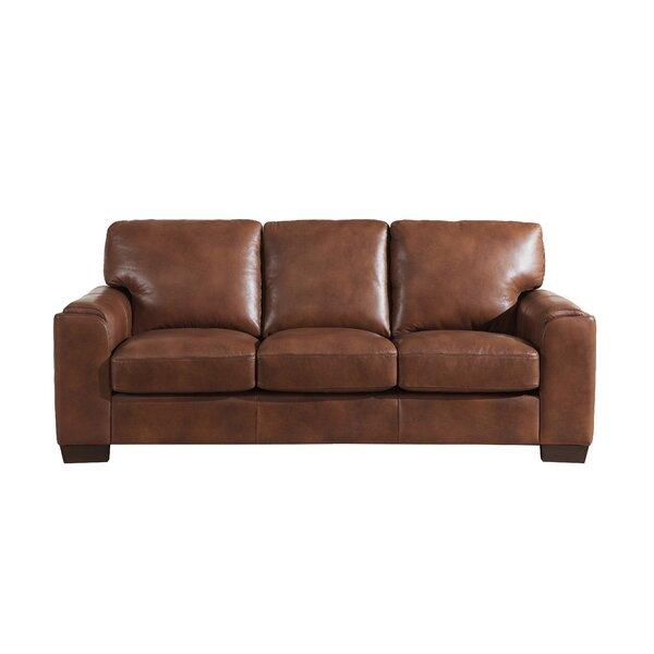 Hadley Craft Leather Sofa by Orren Ellis