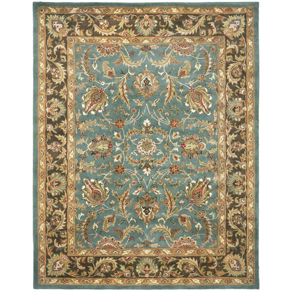 Cranmore Hand-Tufted Blue/Brown Area Rug by Charlton Home