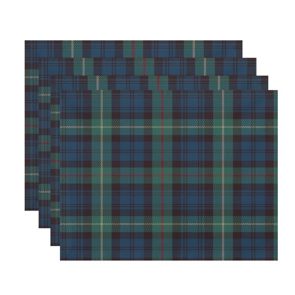 Welliver Tartan Plaid 18 Placemat (Set of 4) by Millwood Pines