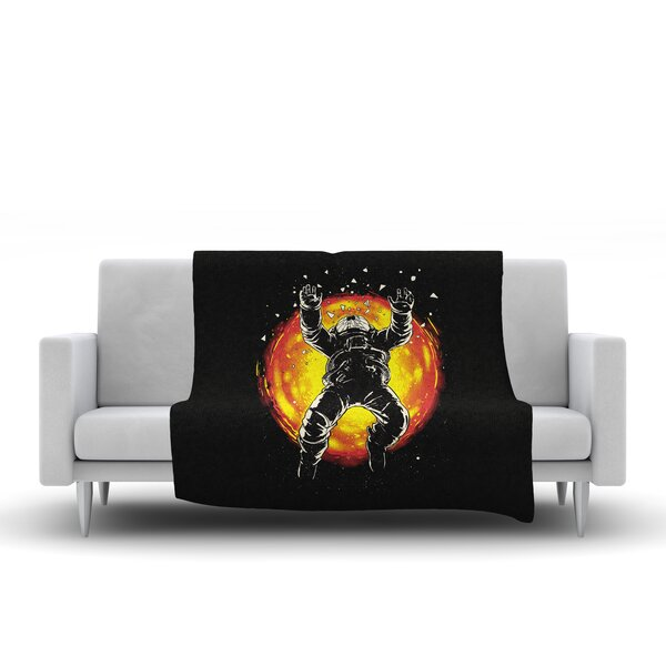 Lost in the Space Fleece Throw Blanket by East Urban Home