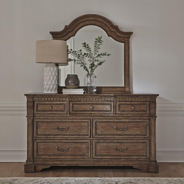 Meriam 7 Drawer Dresser with Mirror by Canora Grey