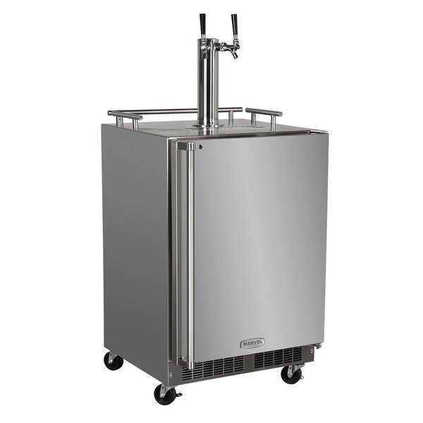 5.7 cu. ft. Outdoor Twin Tap Full Size Kegerator by Marvel