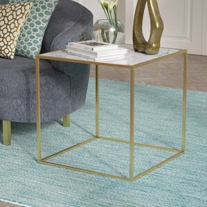 Theydon Faux Marble End Table