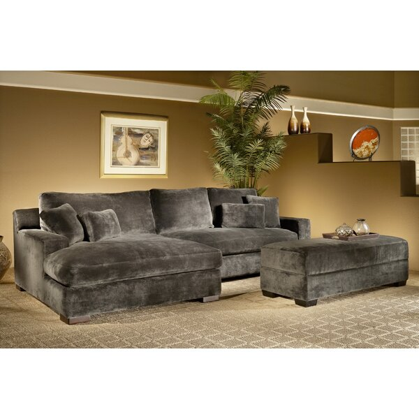 Best #1 Eddie Reversible Sectional With Ottoman By Latitude Run New