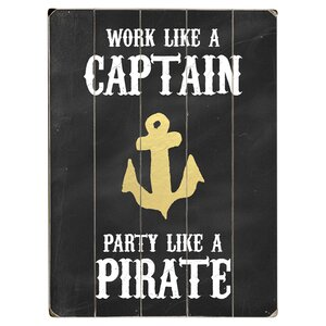 Work Like a Captain Textual Art Multi-Piece Image on Wood by Artehouse LLC