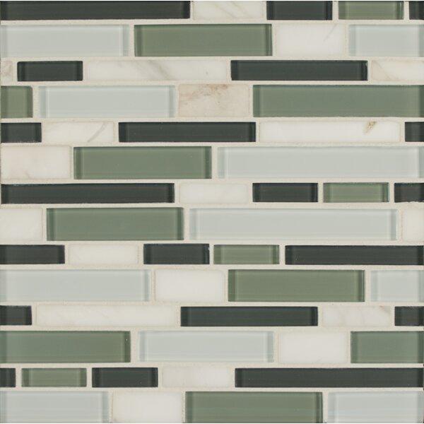 Tiffany Random Sized Glass Mosaic Tile in Green by Bedrosians
