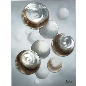 Floating Circles Painting on Canvas by Y Decor