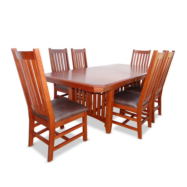Britney 7 Piece Extendable Dining Set by Loon Peak