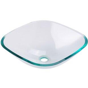 Great choice Brilliante Glass Square Vessel Bathroom Sink By Fresca