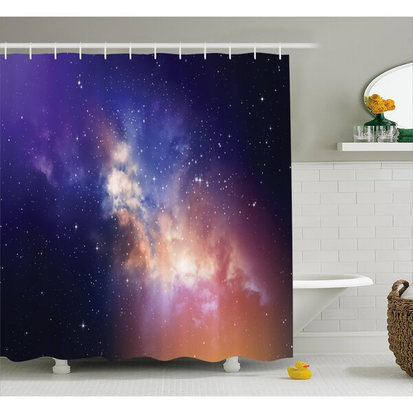 Space Stars in Supernova Sky Shower Curtain by East Urban Home