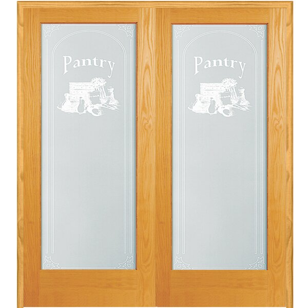 Pantry Wood 2-Panel Natural Interior French Door by Verona Home Design