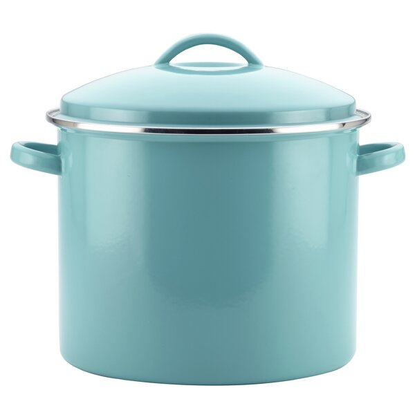 16 qt. Enamel on Steel Covered Stock Pot by Farber