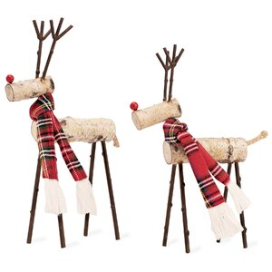 Birch Decorative Reindeer Figurine