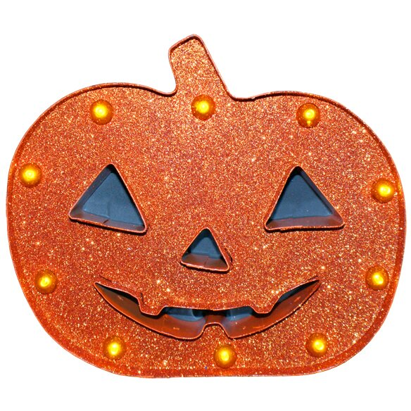 Glitter Pumpkin Marquis by Penn Distributing