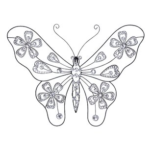 Gentil Metal Butterfly Wall Décor