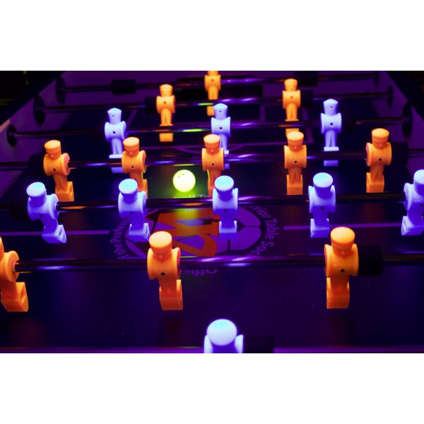 Professional Black Light Foosball Table by Warrior Table Soccer