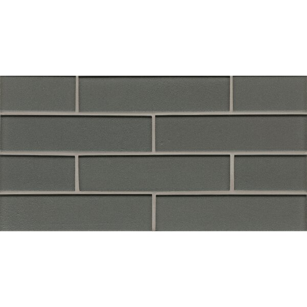 Remy Glass Mosaic Gloss Mesh Mount Tile in Metal by Grayson Martin
