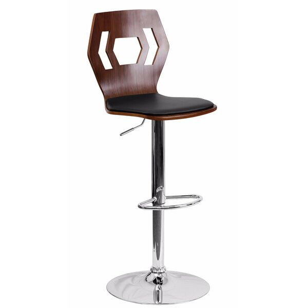 Chance Adjustable Height Swivel Bar Stool by Wrought Studio