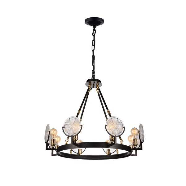 Owatonna 8-Light Unique / Statement Wagon Wheel Chandelier by Wrought Studio Wrought Studio