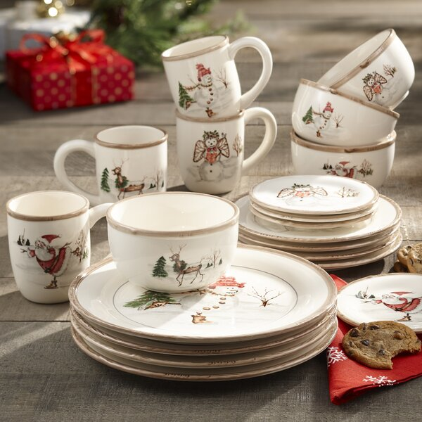 Christmas Twig 20 Piece Dinnerware Set, Service fo