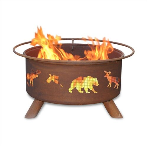 Classic WildFire Steel Wood Burning Fire Pit by Patina Products