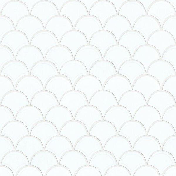 Victoria 1.8 x 1.8 Ceramic Mosaic Tile in White by Shaw Floors