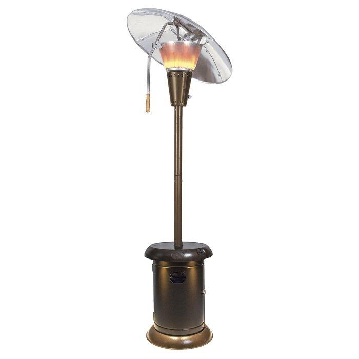 Heat Focus 38 200 Btu Propane Patio Heater With Speaker And Lights