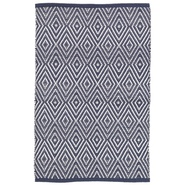 Diamond Navy Blue Indoor/Outdoor Area Rug by Dash and Albert Rugs