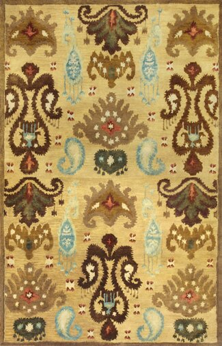 Jagger Gold Ferozi Area Rug by Bungalow Rose