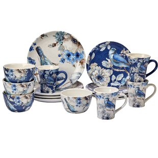 Lindholm 16 Piece Dinnerware Set Service for 4  sc 1 st  Wayfair & Sweet Ceramics Dinnerware | Wayfair