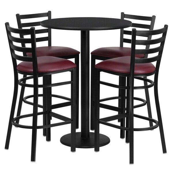 Lomonaco 5 Piece Pub Table Set by Winston Porter