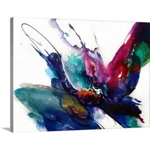 'Impulse IV' Painting Print on Wrapped Canvas by Mercury Row