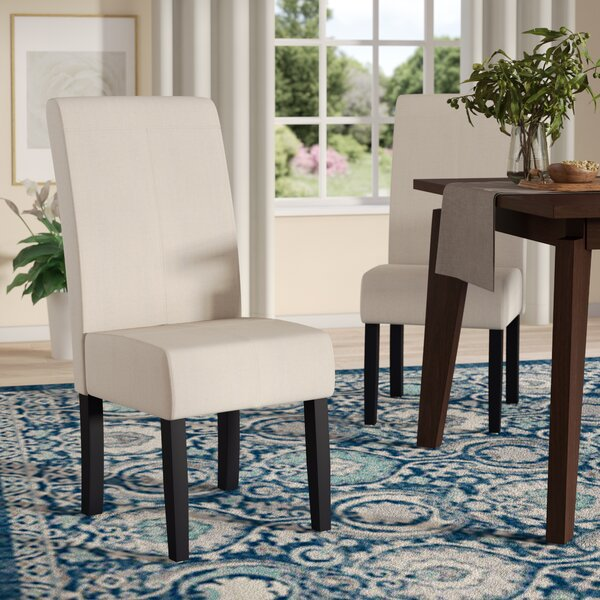 Merrin T-Stitch Upholstered Dining Chair (Set of 2) by Andover Mills