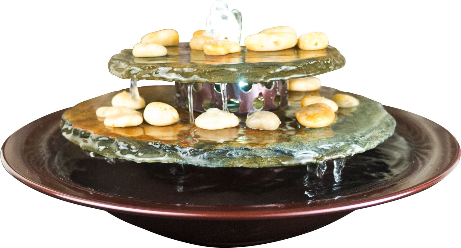 Bluworld Tranquility Pool Tabletop Fountain With Led Light