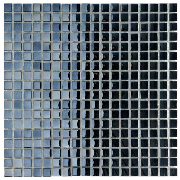 Sable 0.63 x 0.63 Glass Mosaic Tile in Black Mirror by EliteTile