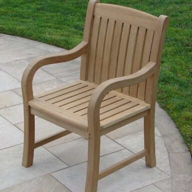 Teakwood Patio Dining Chair By Royal Teak By Lanza Products