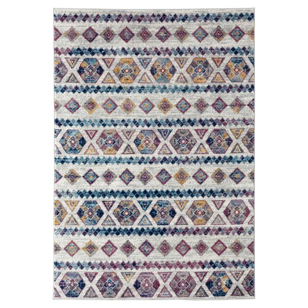 Honig Gray/Blue Area Rug by Bungalow Rose