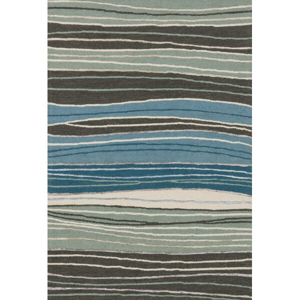Kirkbride Hand-Tufted Gray/Blue Area Rug by Charlton Home
