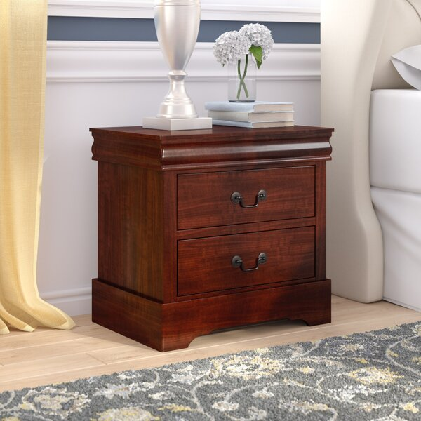 Burleson 2 Drawer Nightstand by Three Posts
